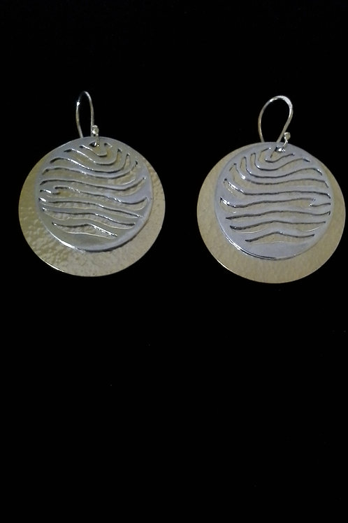 Sterling Silver & 22K Yellow Gold Plated Worlds Collide Earrings
