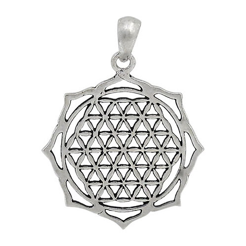 Sterling Silver Flower of Life Pendant