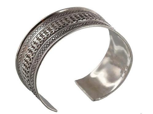 Fine Silver Tuareg Cuff Style Bangle