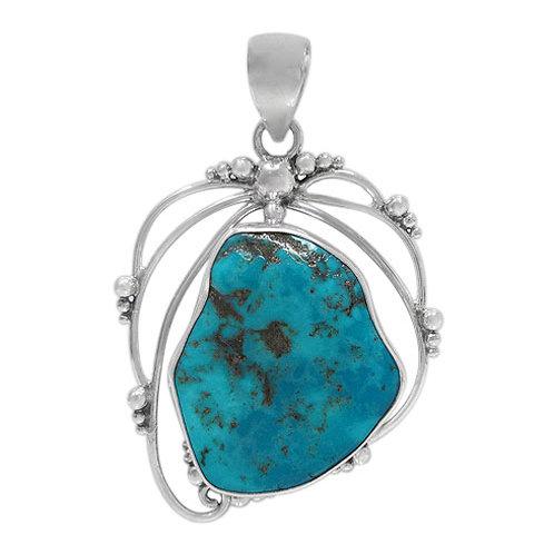 Sterling Silver Arizona Turquoise Pendant