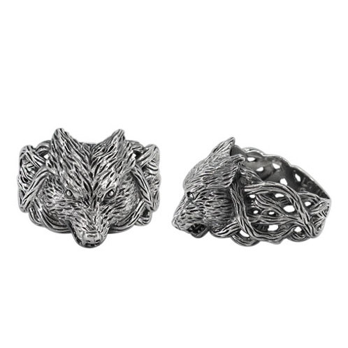 Sterling Silver Celtic Wolf Ring
