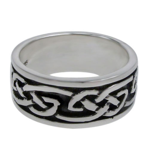 Sterling Silver Celtic Eternity Knot Men's Ring (Size 8.75)