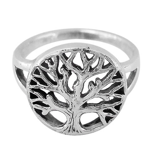 Sterling Silver Tree of life Ring (Size 7)