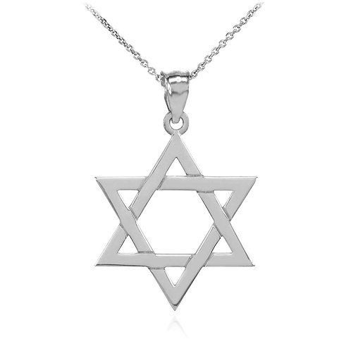 Sterling Silver Star of David Charm Pendant
