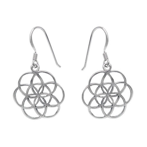 Sterling Silver Seed of Life Earrings