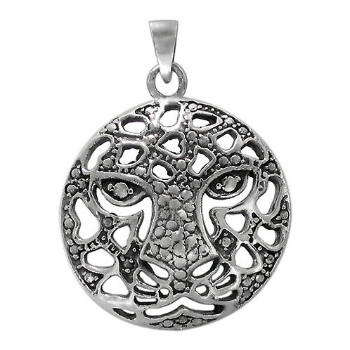Sterling Silver Tiger Face Pendant