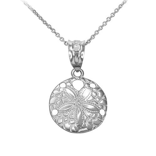 Sterling Silver Round Sand Dollar Pendant