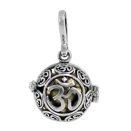 Sterling Silver Harmony Ball with Om design