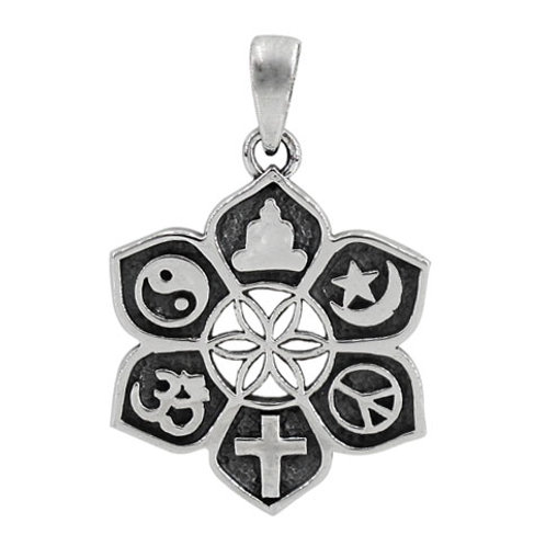 "Sterling Silver Interfaith Unity ""Oneness""  Pendant"