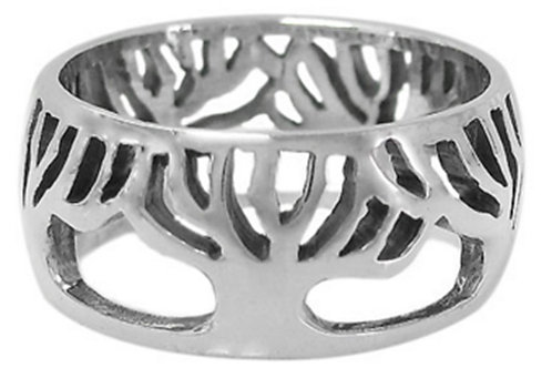 Sterling Silver Tree of Life wrap around Ladies Ring (Size 7)