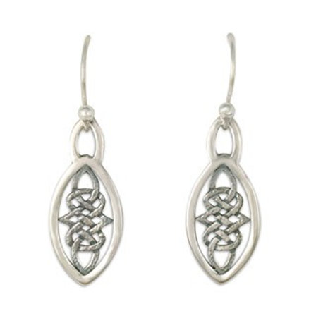 Sterling Silver Small Inverness Earrings