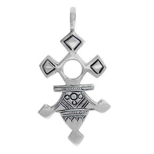Sterling Silver Agadez Cross (Replica) Pendant