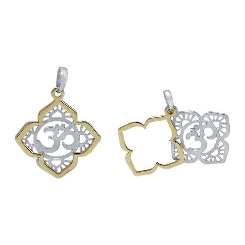 Sterling Silver with Gold Plating Om Pendant