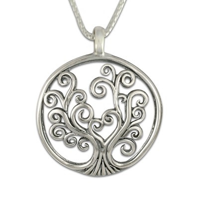 Sterling silver small tree of life pendant necklace aloadofball Images