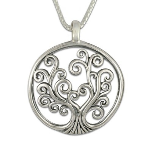 Sterling Silver Small Tree of Life  Pendant Necklace