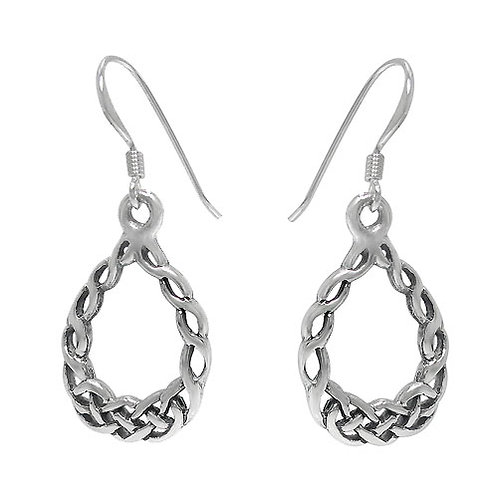 Sterling Silver Celtic Circular Knot Earrings