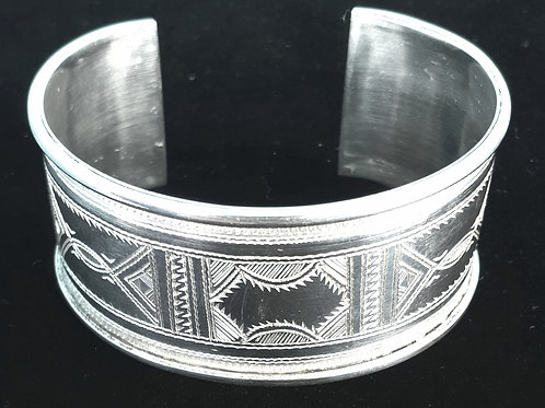 Sterling Silver Tuareg Cuff Bangle