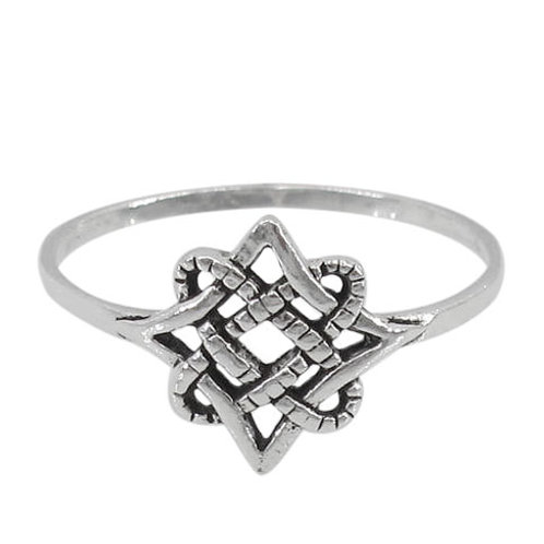 Sterling Silver Celtic Eternity Knot Ring (Size 5)