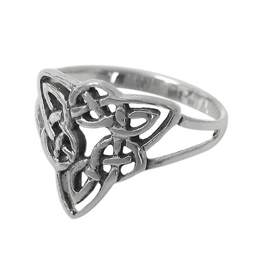 Sterling Silver Celtic Knot design Ladies Ring (Size 6)