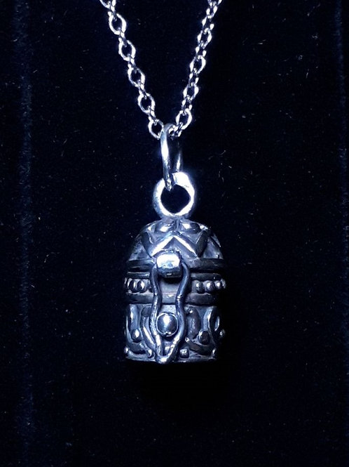 Sterling Silver Mini Prayer Box Pendant