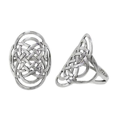 Sterling Silver Celtic Knot Ring (Size 6.75, 7.75)