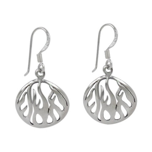 Sterling Silver Flame Earrings