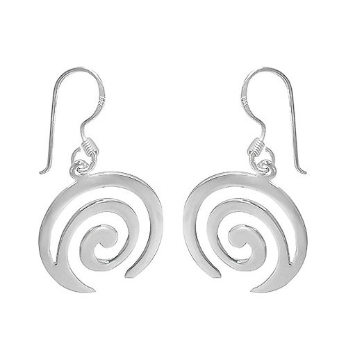Sterling Silver Spiral dangle Earrings