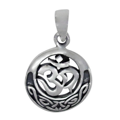 Sterling Silver OM with Celtic Knot Pendant