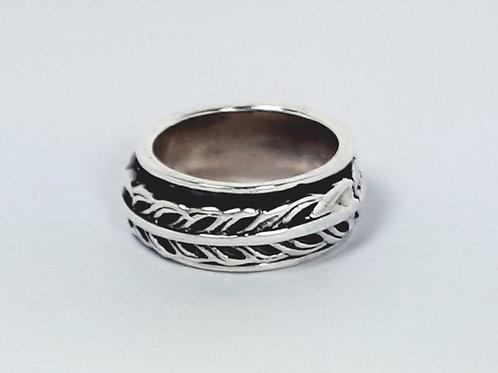 Sterling Silver Leaf Spinner Ring