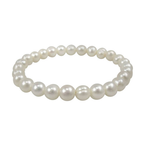 Fresh Water Pearl 5-6mm Elastic Bracelet