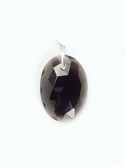 Sterling Silver with Smoky Quartz Pendant
