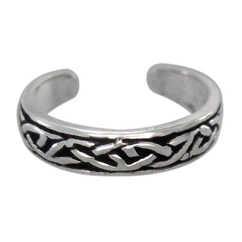 Sterling Silver Celtic Knot design adjustable Toe Ring