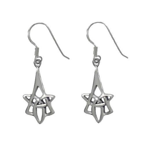 Sterling Silver Celtic Trinity Knot Earrings
