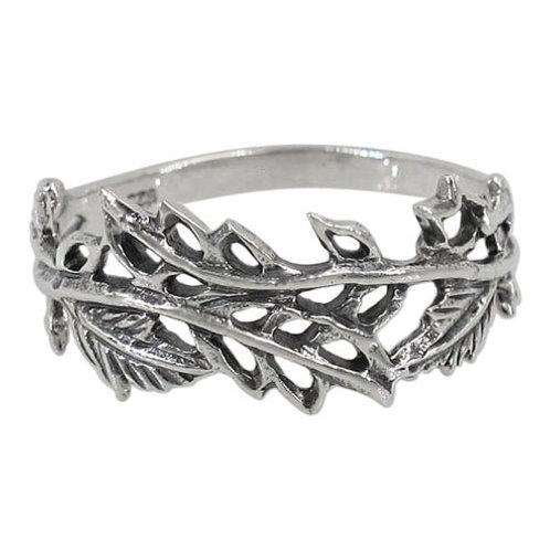 Sterling Silver Leaf Ring