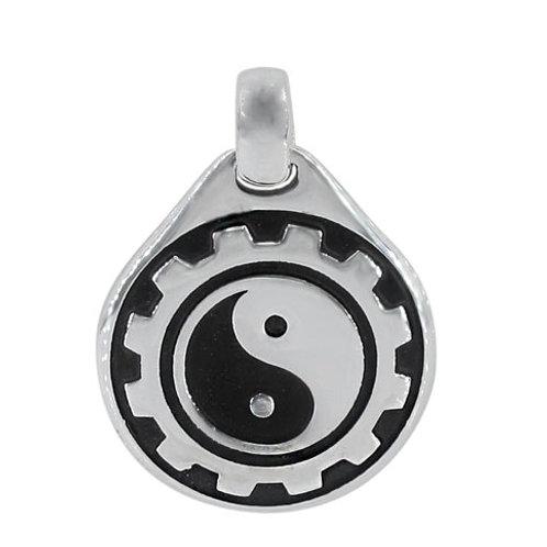 Sterling Silver Yin & Yang Pendant