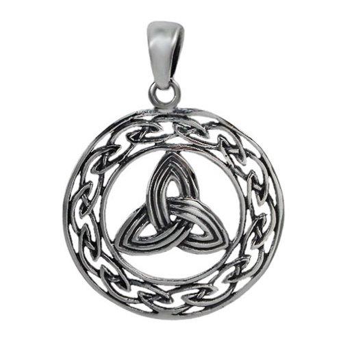 Sterling Silver Celtic Triquetra Knot & Eternity Knot Pendant