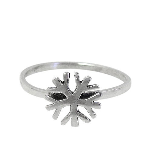 Sterling Silver Snowflake Ring (Size 5.5)