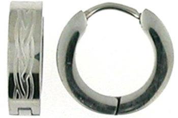 Stainless Steel Celtic Knot Huggie Earrings
