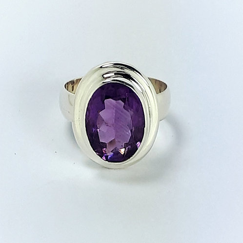 Sterling Silver with Amethyst Ring