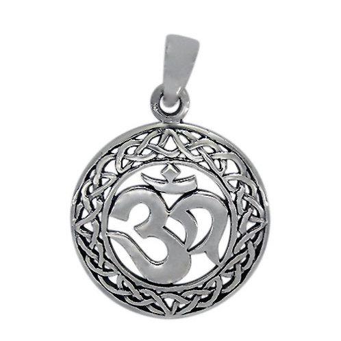 Sterling Silver OM design with Celtic Sailor's Knot Pendant