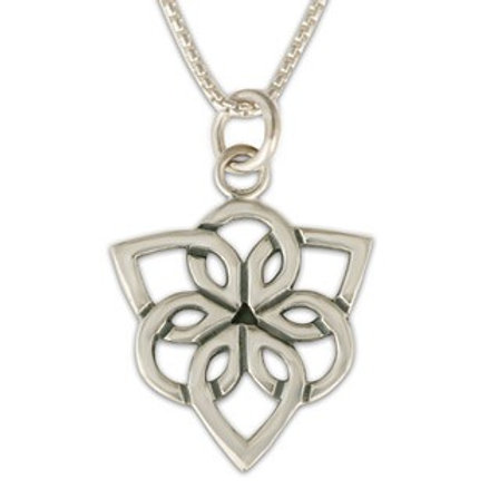 Sterling Silver Trillium Pendant Necklace