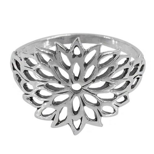 Sterling Silver Flower Ladies Ring