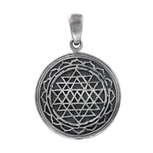 Sterling Silver Sri Yantra Pendant