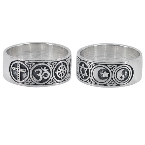 """Sterling Silver Interfaith Unity """"Oneness""""  Ring"""