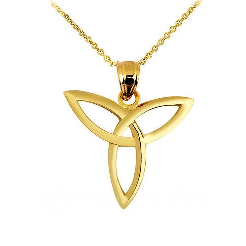 10K Yellow Gold Celtic Trinity Pendant