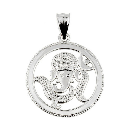 Sterling Silver Lord Ganesha Charm Pendant