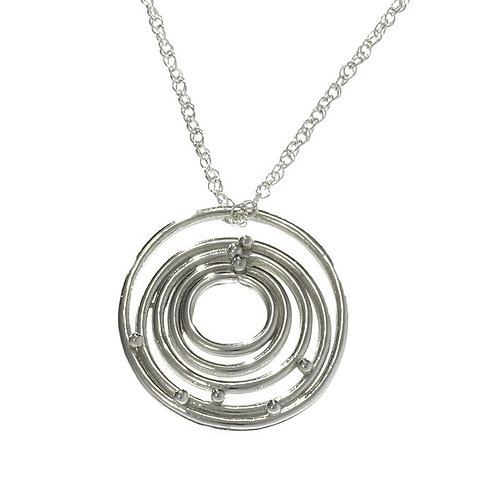 Sterling Silver Circles of Life Pendant Necklace