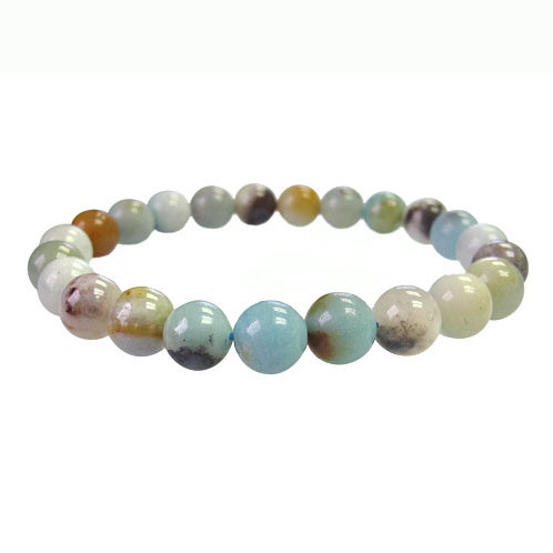 Black Gold Amazonite 6mm Elastic Bracelet