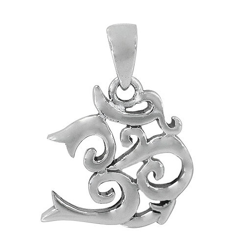 Sterling Silver unique OM Pendant
