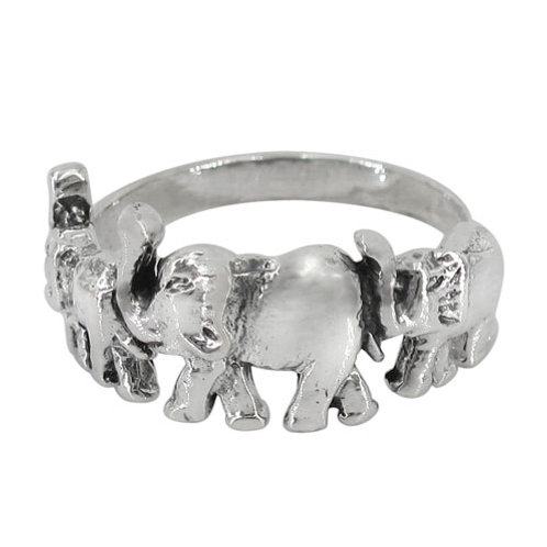 Sterling Silver March of the Elephant Ring